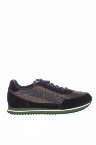 Мъжки обувки Armani Jeans, Размер 42, Цвят Черен, Естествен велур, текстил, Цена 220,35лв.