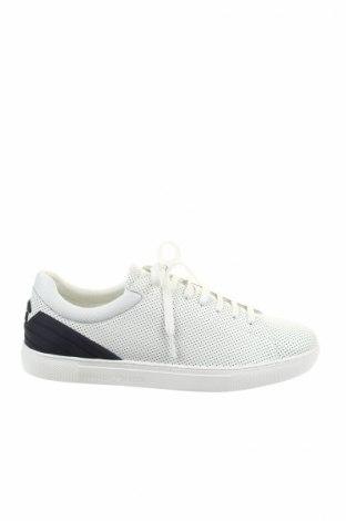Мъжки обувки Emporio Armani, Размер 44, Цвят Бял, Естествена кожа, текстил, полиуретан, Цена 239,85лв.