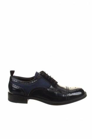 Мъжки обувки Emporio Armani, Размер 42, Цвят Син, Естествена кожа, текстил, Цена 272,35лв.