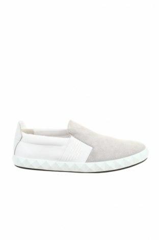 Мъжки обувки Emporio Armani, Размер 42, Цвят Сив, Естествен велур, естествена кожа, текстил, Цена 272,35лв.