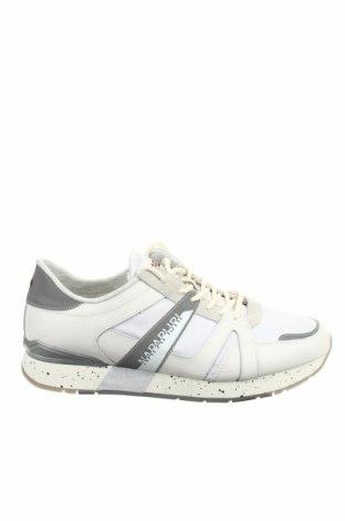 Мъжки обувки Napapijri, Размер 45, Цвят Бял, Естествена кожа, еко кожа, текстил, Цена 64,97лв.