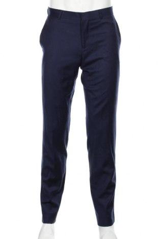 Ανδρικό παντελόνι Bossini, Μέγεθος M, Χρώμα Μπλέ, Μαλλί, Τιμή 26,73€