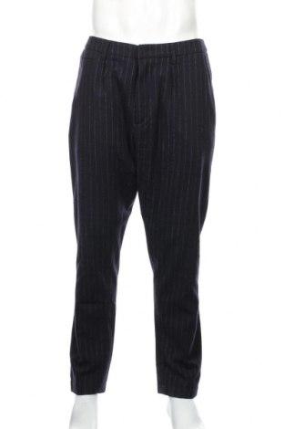 Ανδρικό παντελόνι Dondup, Μέγεθος M, Χρώμα Μπλέ, 66% μαλλί, 22% βαμβάκι, 12% πολυαμίδη, Τιμή 81,96€