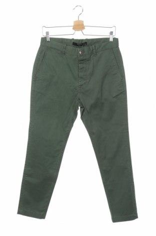 Ανδρικό παντελόνι Mango, Μέγεθος S, Χρώμα Πράσινο, 97% βαμβάκι, 3% ελαστάνη, Τιμή 25,24€