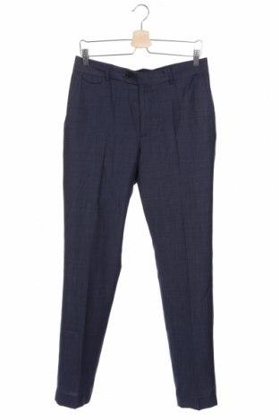 Ανδρικό παντελόνι Mango, Μέγεθος M, Χρώμα Μπλέ, 60% μαλλί, 40% πολυεστέρας, Τιμή 25,61€