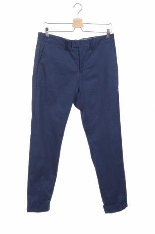 Ανδρικό παντελόνι Mango, Μέγεθος M, Χρώμα Μπλέ, 97% βαμβάκι, 3% ελαστάνη, Τιμή 25,61€