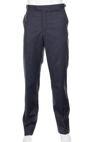 Ανδρικό παντελόνι Mango, Μέγεθος L, Χρώμα Μπλέ, Μαλλί, Τιμή 25,61€