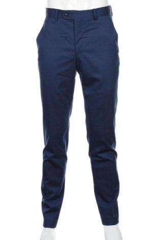 Ανδρικό παντελόνι Mango, Μέγεθος S, Χρώμα Μπλέ, 55% μαλλί, 43% πολυεστέρας, 2% ελαστάνη, Τιμή 25,61€