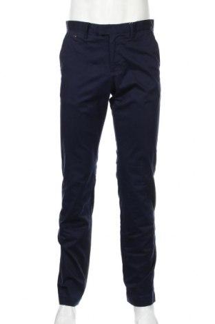 Ανδρικό παντελόνι Mango, Μέγεθος M, Χρώμα Μπλέ, 96% βαμβάκι, 4% ελαστάνη, Τιμή 21,90€