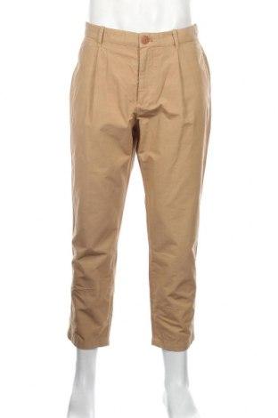 Pantaloni de bărbați Mango, Mărime M, Culoare Bej, 99% bumbac, 1% poliester, Preț 130,26 Lei