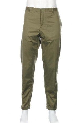 Pánske nohavice  Mango, Veľkosť XL, Farba Zelená, 96% bavlna, 4% elastan, Cena  25,61€