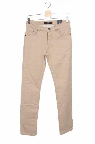 Ανδρικό παντελόνι Mango, Μέγεθος S, Χρώμα  Μπέζ, 97% βαμβάκι, 3% ελαστάνη, Τιμή 25,61€