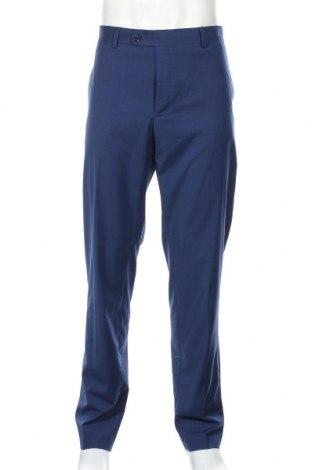 Pantaloni de bărbați Mango, Mărime XL, Culoare Albastru, 66% poliester, 32% viscoză, 2% elastan, Preț 136,19 Lei
