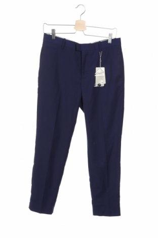 Pantaloni de bărbați Mango, Mărime S, Culoare Albastru, 77% poliester, 20% viscoză, 3% elastan, Preț 136,19 Lei