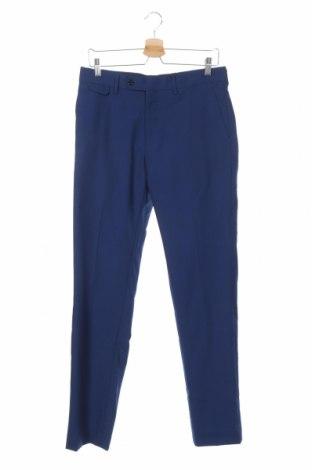 Pantaloni de bărbați Mango, Mărime M, Culoare Albastru, 55% lână, 45% poliester, Preț 136,19 Lei