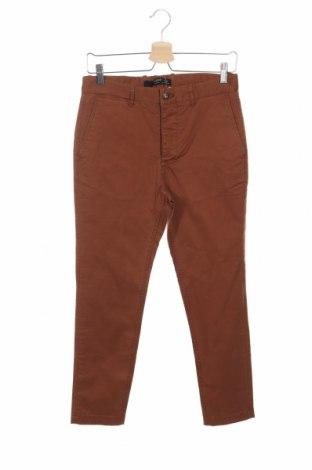 Pantaloni de bărbați Mango, Mărime S, Culoare Maro, 97% bumbac, 3% elastan, Preț 134,21 Lei