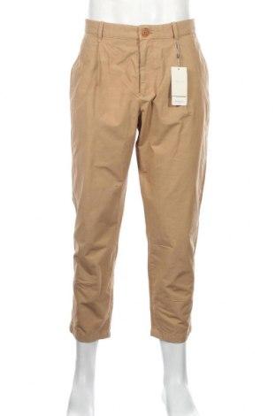 Pantaloni de bărbați Mango, Mărime L, Culoare Bej, 99% bumbac, 1% poliester, Preț 136,19 Lei