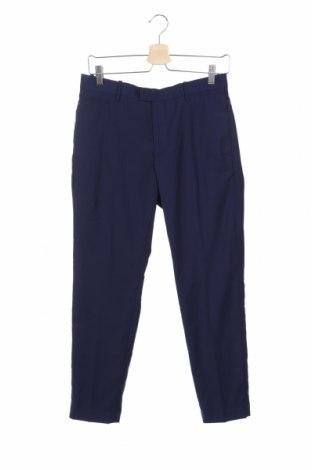 Pantaloni de bărbați Mango, Mărime S, Culoare Albastru, 77% poliester, 20% viscoză, 3% elastan, Preț 116,45 Lei