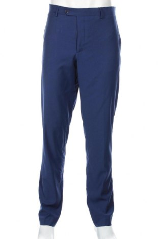 Pantaloni de bărbați Mango, Mărime L, Culoare Albastru, 69% poliester, 29% viscoză, 2% elastan, Preț 136,19 Lei