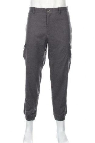 Pantaloni de bărbați Mango, Mărime L, Culoare Gri, 65% poliester, 33% viscoză, 2% elastan, Preț 136,19 Lei