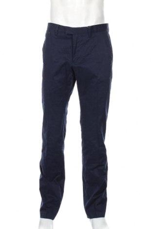 Pantaloni de bărbați Mango, Mărime L, Culoare Albastru, 96% bumbac, 4% elastan, Preț 136,19 Lei