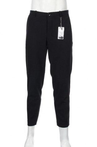 Pantaloni de bărbați Mango, Mărime L, Culoare Albastru, 68% poliester, 28% viscoză, 4% elastan, Preț 90,79 Lei
