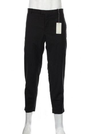 Pantaloni de bărbați Mango, Mărime L, Culoare Negru, 76% poliester, 21% viscoză, 3% elastan, Preț 136,19 Lei