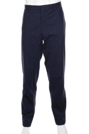 Ανδρικό παντελόνι S.Oliver, Μέγεθος XL, Χρώμα Μπλέ, 96% μαλλί, 4% ελαστάνη, Τιμή 26,72€