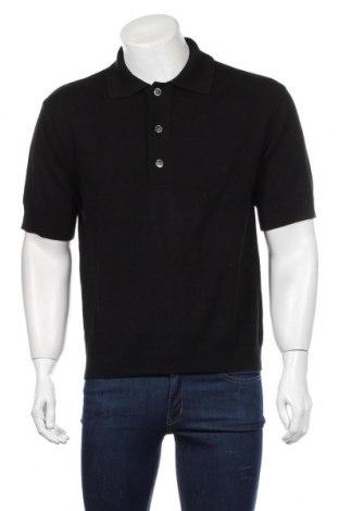 Мъжки пуловер Weekday, Размер S, Цвят Черен, 51% памук, 37% вискоза, 12% коприна, Цена 22,08лв.