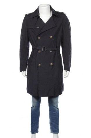 Pánský přechodný kabát  H&M, Rozměr L, Barva Modrá, 55% polyester, 45% bavlna, Cena  666,00Kč