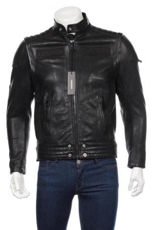 Pánská kožená bunda  Diesel, Rozměr S, Barva Černá, Pravá kůže, Cena  7433,00Kč