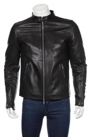 Pánská kožená bunda  Dondup, Rozměr L, Barva Černá, Pravá kůže, Cena  7433,00Kč