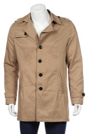 Pánský kabát  Selected Homme, Rozměr M, Barva Béžová, 53% polyester, 47% bavlna, Cena  595,00Kč