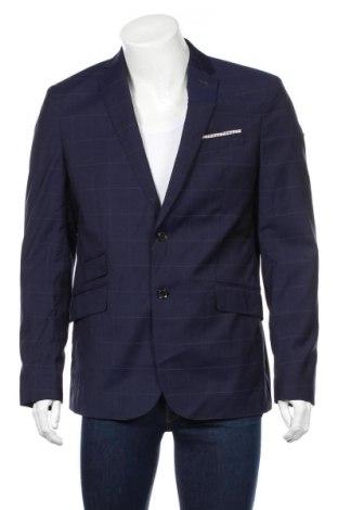 Pánske sako  Mango, Veľkosť L, Farba Modrá, Vlna, Cena  36,74€