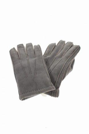 Ръкавици, Цвят Сив, Естествен велур, Цена 13,97лв.
