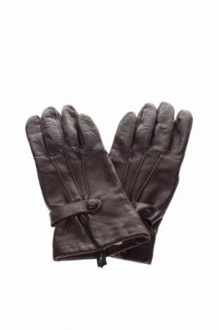 Mănuși, Culoare Maro, Piele naturală, Preț 32,16 Lei