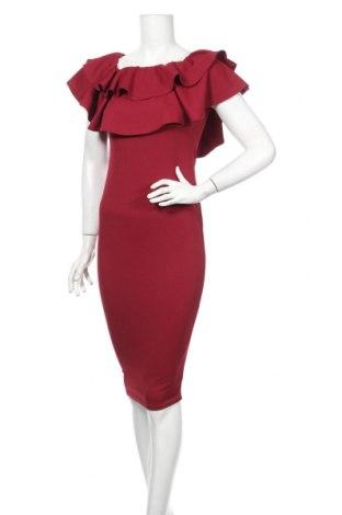 Sukienka Boohoo, Rozmiar M, Kolor Czerwony, 95% poliester, 5% elastyna, Cena 55,00zł