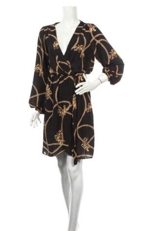 Šaty  Boohoo, Veľkosť L, Farba Viacfarebná, 97% polyester, 3% elastan, Cena  24,74€