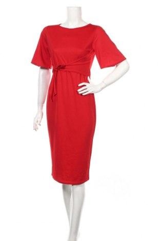 Šaty  Boohoo, Veľkosť M, Farba Červená, 95% polyester, 5% elastan, Cena  30,41€