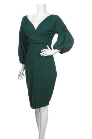 Šaty  Boohoo, Veľkosť L, Farba Zelená, 95% polyester, 5% elastan, Cena  28,87€