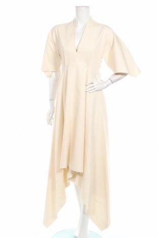 Φόρεμα Mango, Μέγεθος XS, Χρώμα  Μπέζ, 97% βαμβάκι, 3% ελαστάνη, Τιμή 19,18€