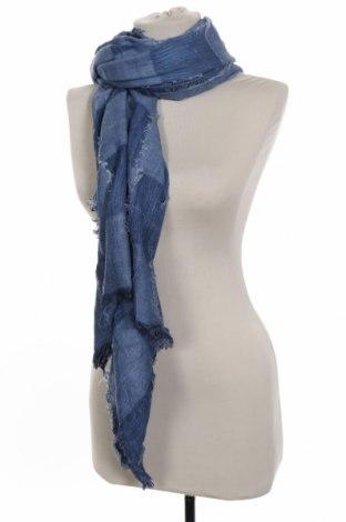 Κασκόλ Zara, Χρώμα Μπλέ, 79% βαμβάκι, 21% πολυεστέρας, Τιμή 11,46€