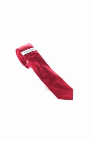 Γραβάτα Calvin Klein, Χρώμα Κόκκινο, Μετάξι, Τιμή 25,61€