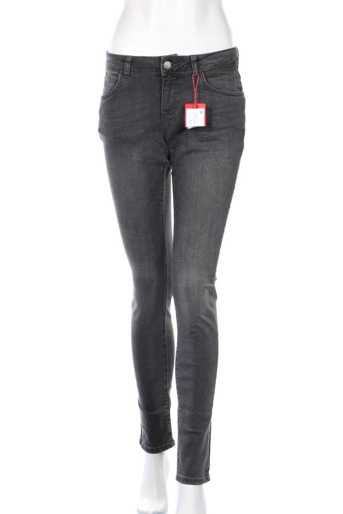 Дамски дънки S.Oliver, Размер S, Цвят Сив, 98% памук, 2% еластан, Цена 35,60лв.