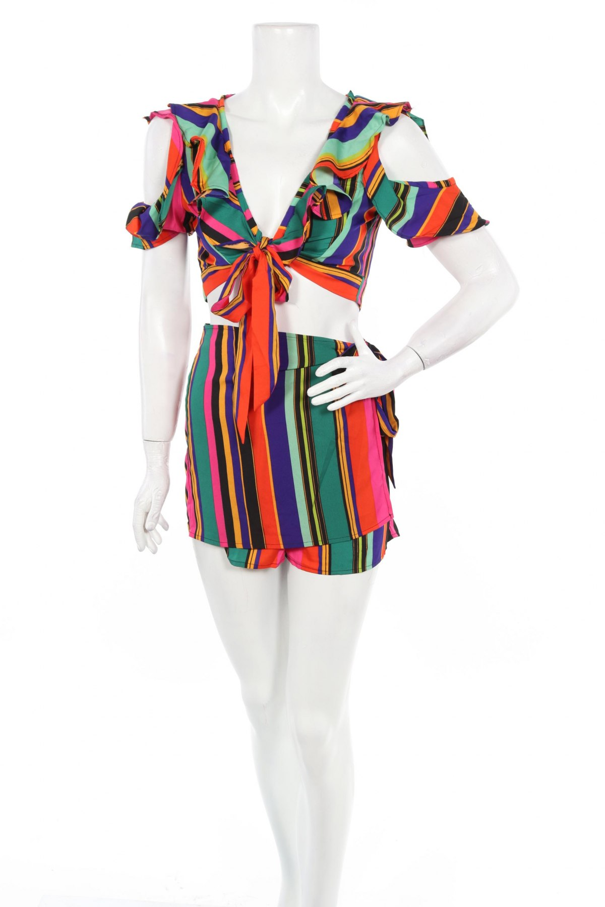 Дамски комплект Boohoo, Размер M, Цвят Многоцветен, Полиестер, Цена 22,26лв.