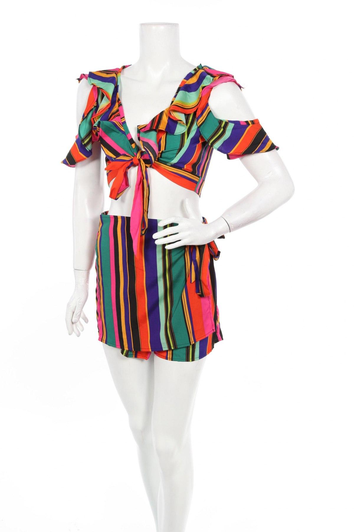 Дамски комплект Boohoo, Размер S, Цвят Многоцветен, Полиестер, Цена 22,26лв.
