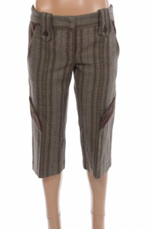 Дамски панталон BCBG Max Azria, Размер XS, Цвят Кафяв, 50% вълна, 50% памук, Цена 17,68лв.