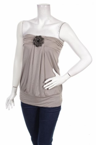 Γυναικείο αμάνικο μπλουζάκι Ann Christine, Μέγεθος M, Χρώμα  Μπέζ, 92% βισκόζη, 8% ελαστάνη, Τιμή 3,47€