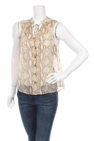 Дамска риза H&M, Размер L, Цвят Бежов, Полиестер, Цена 3,75лв.