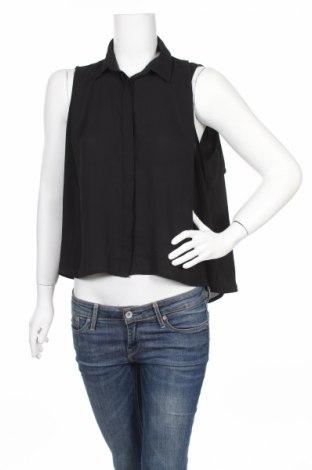 Γυναικείο πουκάμισο Just Female, Μέγεθος S, Χρώμα Μαύρο, Πολυεστέρας, Τιμή 7,37€